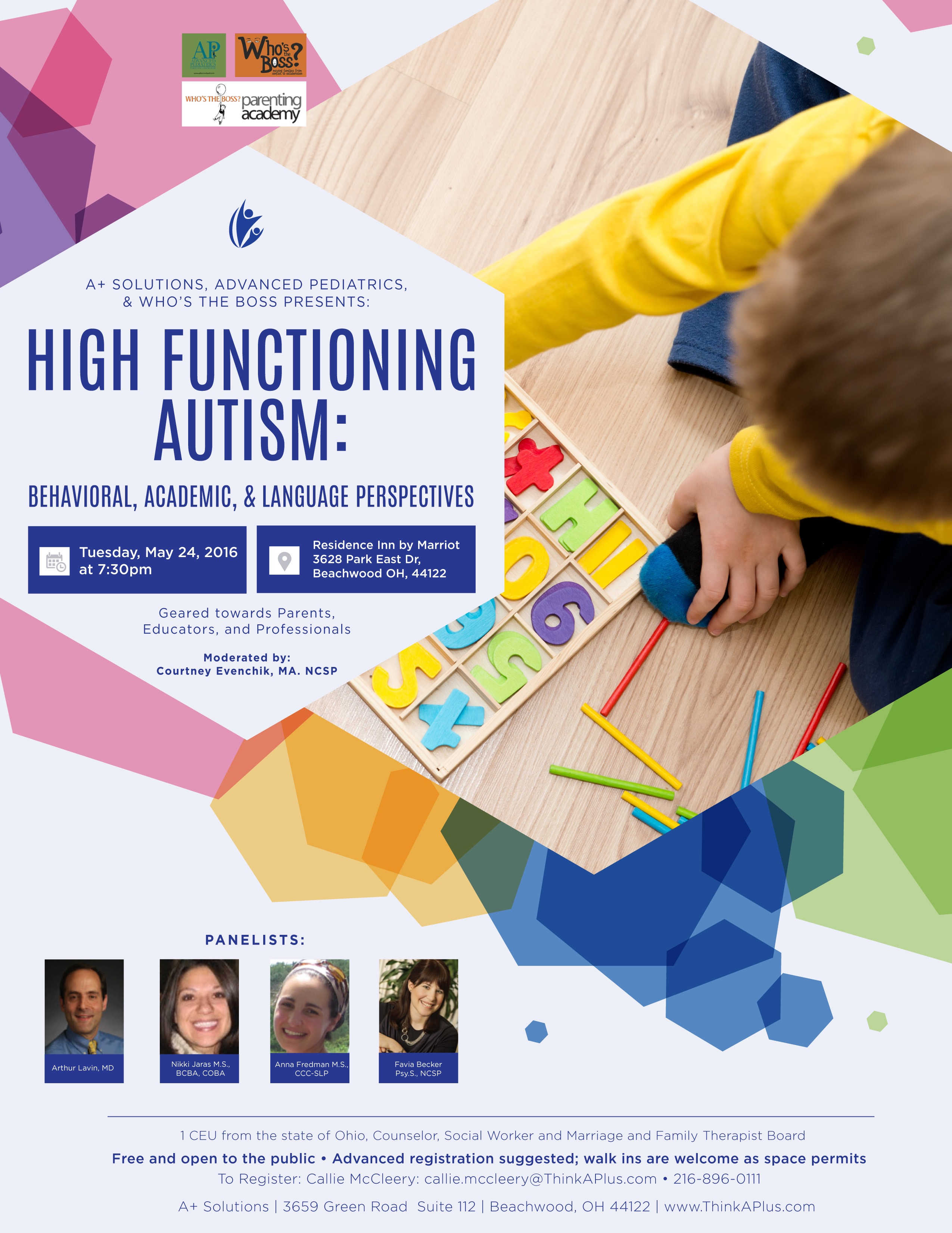 High Functioning Autism Meet Our Panelists